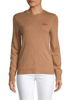 Saks Fifth Avenue Ciao Embroidered Sweater
