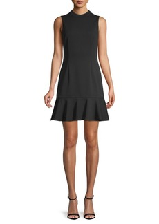 Saks Fifth Avenue Classic Crepe Fit-&-Flare Dress