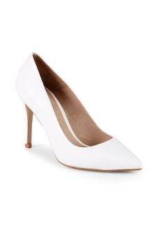 Saks Fifth Avenue Classic Leather Point Toe Pumps