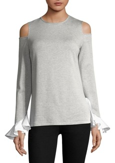 Saks Fifth Avenue Cold Shoulder Knit Top