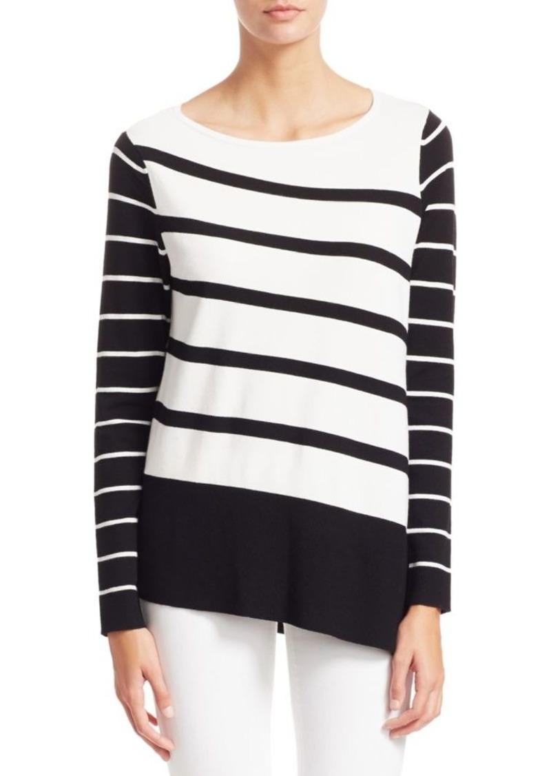 Saks Fifth Avenue COLLECTION Asymmetric Stripe Tunic