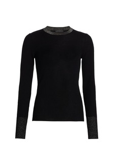 Saks Fifth Avenue COLLECTION Block Shine Wool Sweater