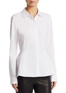 Saks Fifth Avenue COLLECTION Button-Down Peplum Shirt