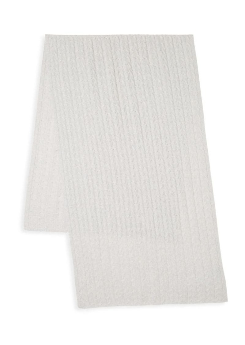 Saks Fifth Avenue COLLECTION Cable-Stitch Cashmere Scarf