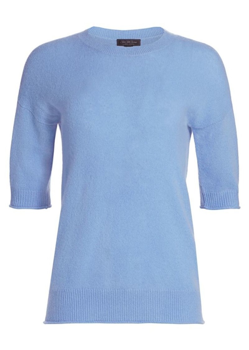 Saks Fifth Avenue Collection Cashmere Relaxed Featherweight Crew Sweater