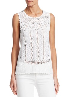 Saks Fifth Avenue COLLECTION Crochet Cotton Top