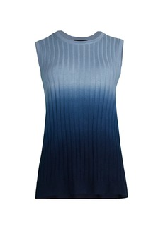 Saks Fifth Avenue COLLECTION Dip-Dye Sleeveless Shell Top