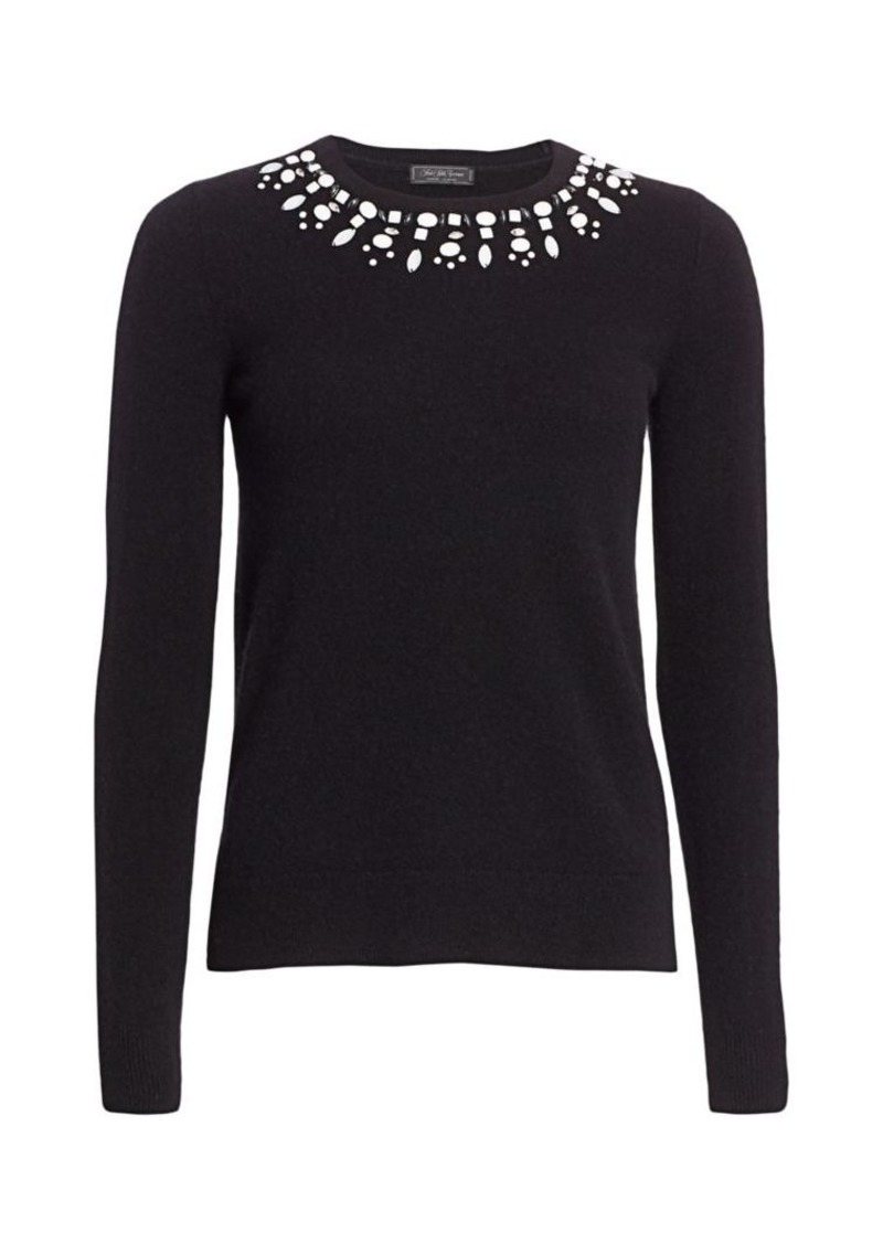 Saks Fifth Avenue COLLECTION Embellished Cashmere Pullover