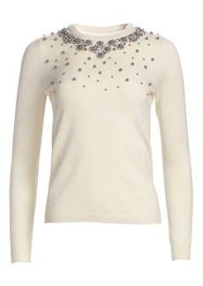 84f1cd8aa79 Saks Fifth Avenue COLLECTION Embellished Cashmere Sweater