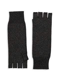Saks Fifth Avenue COLLECTION Fingerless Metallic Cashmere Gloves