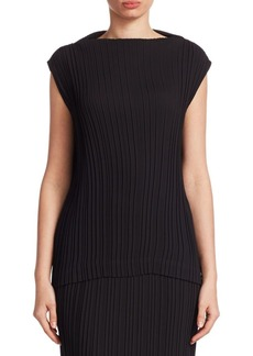 Saks Fifth Avenue COLLECTION Funnelneck Pleated Top