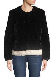 Saks Fifth Avenue COLLECTION Heurueh Faux Fur Plush Jacket