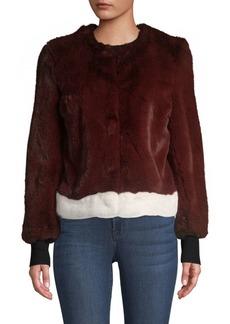Saks Fifth Avenue Faux Fur Plush Jacket