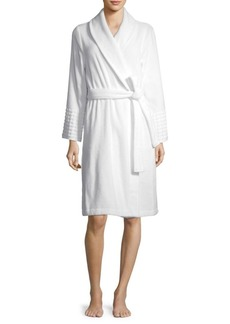 Saks Fifth Avenue COLLECTION Jacquard Dot Terry Robe