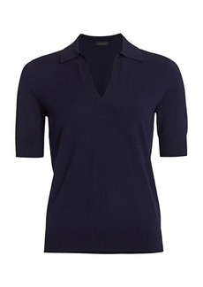 Saks Fifth Avenue COLLECTION Johnny-Collar Top