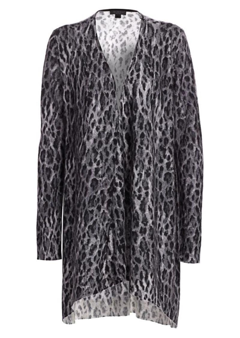 Saks Fifth Avenue COLLECTION Leopard-Print Cashmere Cardigan