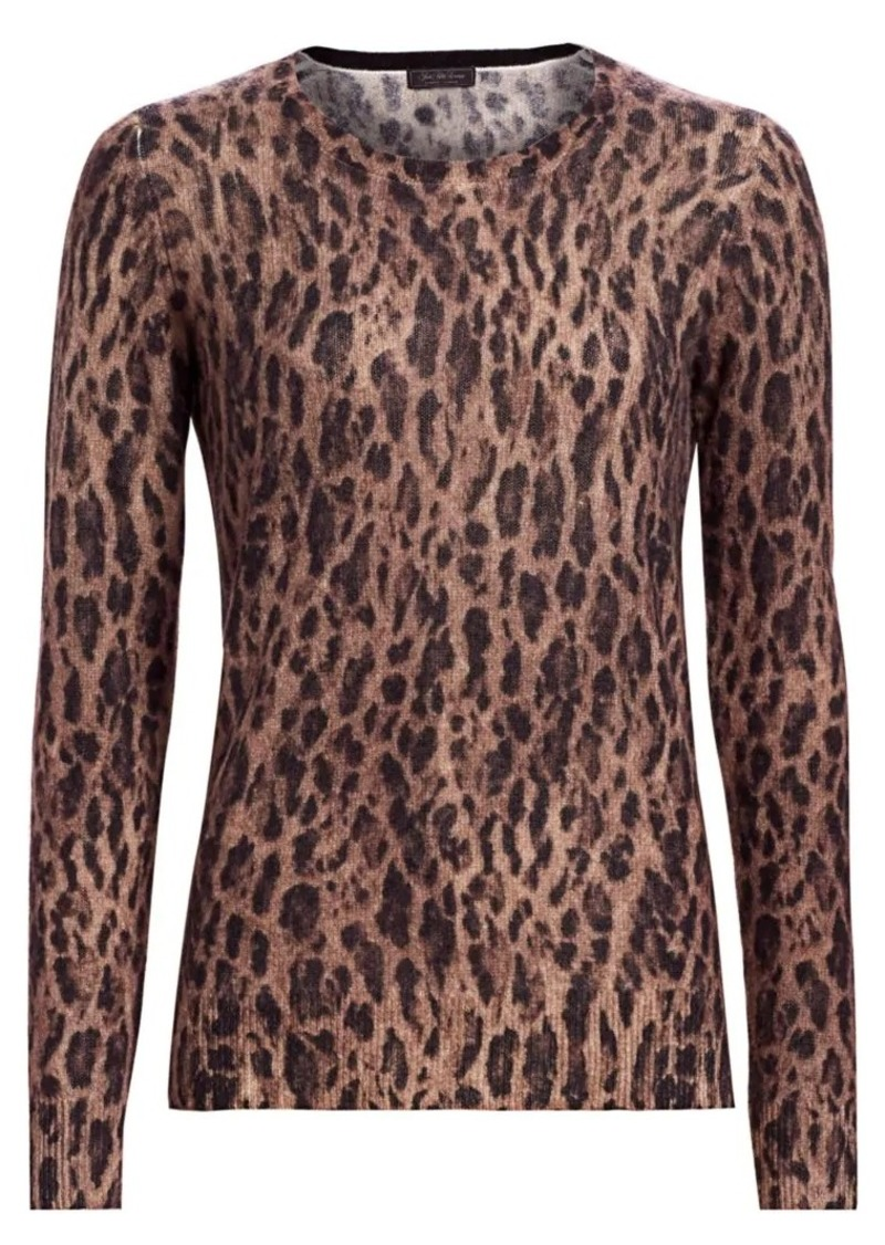 Saks Fifth Avenue COLLECTION Leopard-Print Featherweight Cashmere Sweater