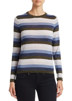 Saks Fifth Avenue COLLECTION Lurex Merino Striped Sweater