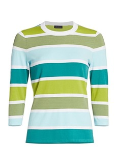 Saks Fifth Avenue COLLECTION Multistriped Pullover