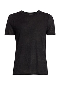 Saks Fifth Avenue COLLECTION Plaited Shine Knit T-Shirt