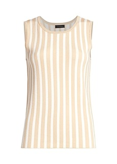 Saks Fifth Avenue COLLECTION Plaited Stripe Shell