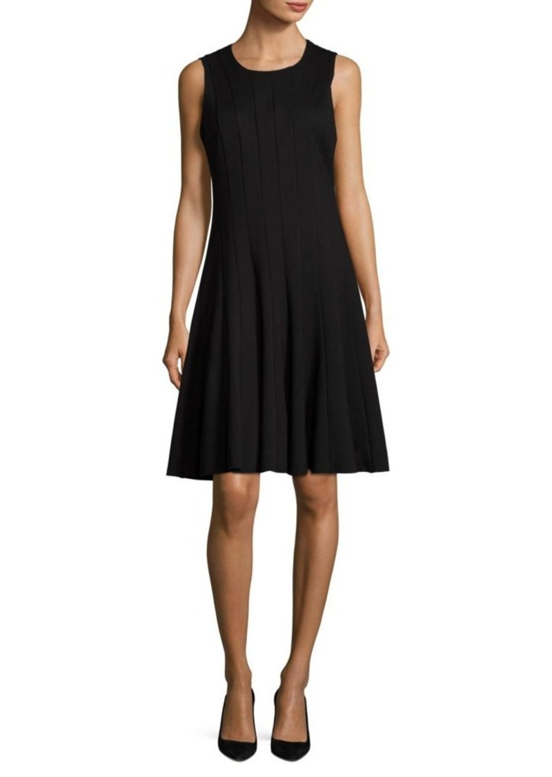 Saks Fifth Avenue COLLECTION Pleated Sleeveless Dress