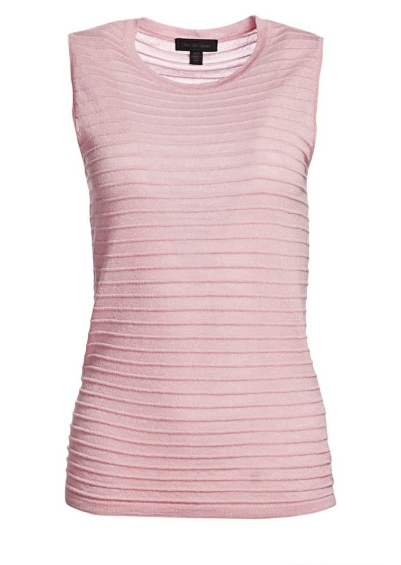 Saks Fifth Avenue COLLECTION Ribbed Sleeveless Merino Lurex Top