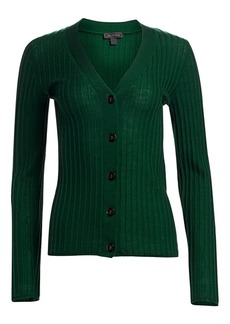 Saks Fifth Avenue COLLECTION Ribbed Wool Cardigan
