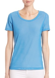 Saks Fifth Avenue COLLECTION Scoopneck Mesh Top