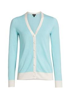Saks Fifth Avenue COLLECTION Silk & Cashmere Bi-Color Cardigan