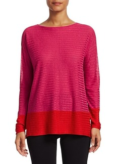 Saks Fifth Avenue COLLECTION Silk Linen Colorblock Top