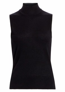 Saks Fifth Avenue COLLECTION Sleeeveless Mockneck Cashmere Knit