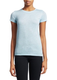 Saks Fifth Avenue COLLECTION Stretch Linen-Blend Tee
