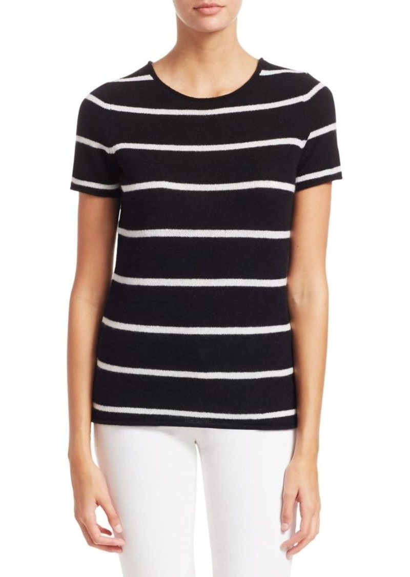 Saks Fifth Avenue COLLECTION Striped Featherweight Cashmere Tee