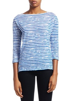 Saks Fifth Avenue COLLECTION Striped Linen Top