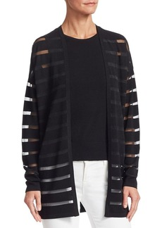 Saks Fifth Avenue COLLECTION Striped Open-Front Cardigan