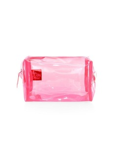 Saks Fifth Avenue COLLECTION Translucent Neon Makeup Pouch