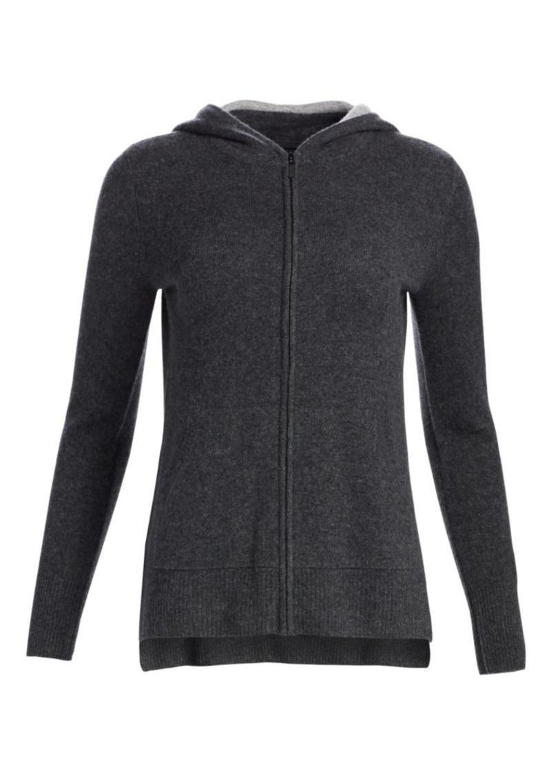 Saks Fifth Avenue COLLECTION Two-Tone Cashmere Hoodie