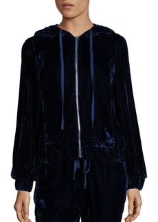 Saks Fifth Avenue COLLECTION Velvet Full-Zip Hoodie