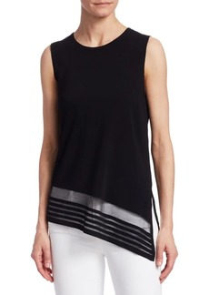 Saks Fifth Avenue COLLECTION Viscose Elite Sheer Inset Tunic
