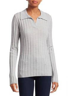Saks Fifth Avenue COLLECTION Wide Ribbed Polo