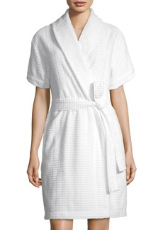 Saks Fifth Avenue COLLECTION Windowpane Terry Robe