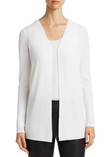 Saks Fifth Avenue COLLECTION Wool Elite Open Cardigan