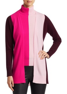 Saks Fifth Avenue COLLECTION Cashmere Colorblock Open Cardigan