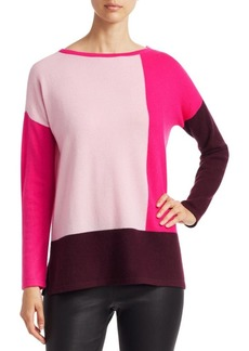 Saks Fifth Avenue COLLECTION Cashmere Colorblock Tunic