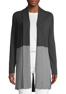 Saks Fifth Avenue Colorblock Cotton Blend Cardigan