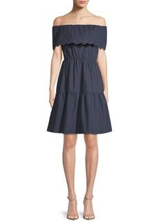Cotton Off-the-Shoulder Dress