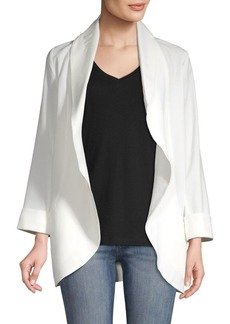 Saks Fifth Avenue Crepe Shawl Collar Open-Front Blazer