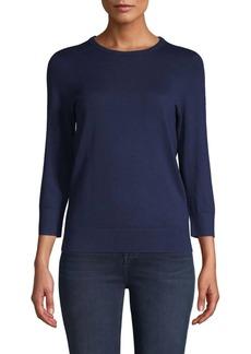 Saks Fifth Avenue Crewneck Cotton-Blend Sweater