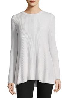 Saks Fifth Avenue Crewneck Hi-Lo Sweater